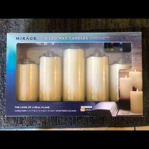 5 LED Wax Candles